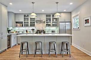 Light Grey Cabinets In Kitchen 12 Gorgeous And Bright Light Gray Kitchens Table And Hearth