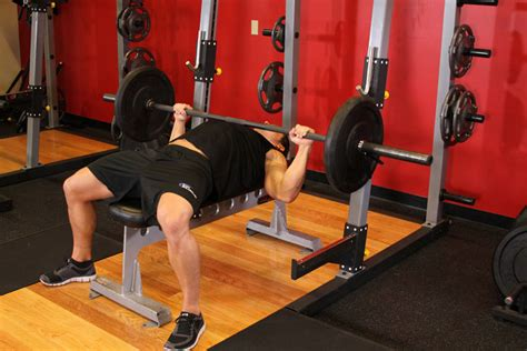 bench press this barbell bench press medium grip exercise guide and video