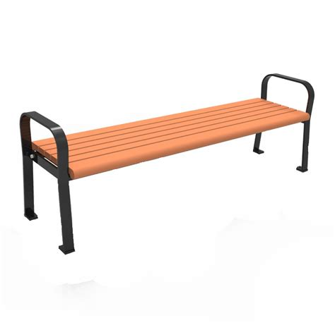 park bench materials backless recycled plastic park bench cab 801b canaan