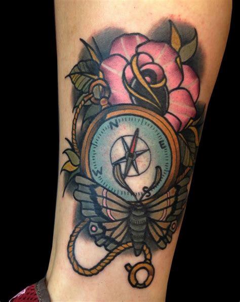 rose compass tattoo compass rose tattoo tattoos pinterest