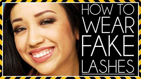 How To Wear False Eyelashes by How To Wear Lashes Mystery Makeup With