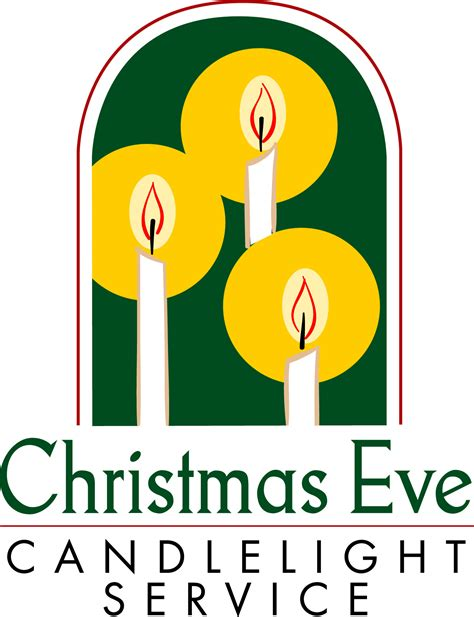 Candle Light Service by Candlelight Christmas Eve Service Clipart