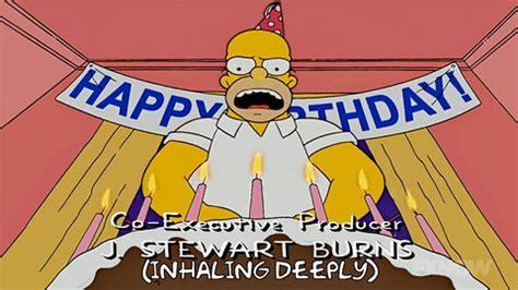 imagenes de happy birthday de los simpson homer simpson birthday gif find share on giphy