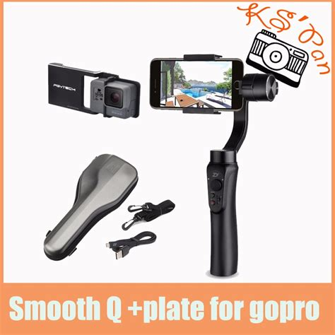 aliexpress buy zhiyun smooth q 3 axis handheld gimbal portable stabilizer for iphone 8 7