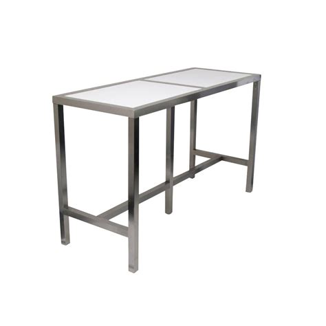 high bar table white top