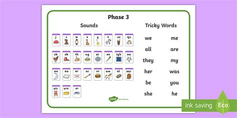 phase 2 3 sound mat phase 3 sounds and tricky words desk mat phase 3 sounds and
