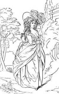 coloring lady costume colouring
