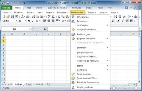 tutorial excel 2010 em portugues onde est 225 o menu ferramentas no microsoft excel 2007 2010