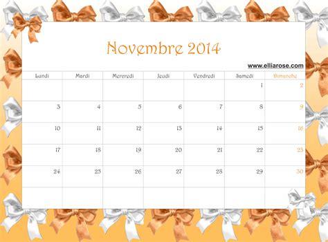 Calendrier Novembre 2014 Calendrier Gratuit 224 Imprimer Novembre 2014 Ellia