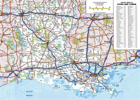 louisiana on map of the usa large detailed roads and highways map of louisiana state