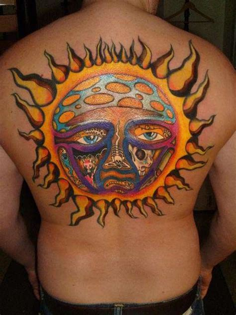 sun tattoo on back sun tattoos page 2