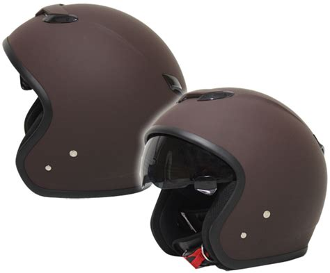 Helm Zeus Retro retro zeus 381j jet helmet brown