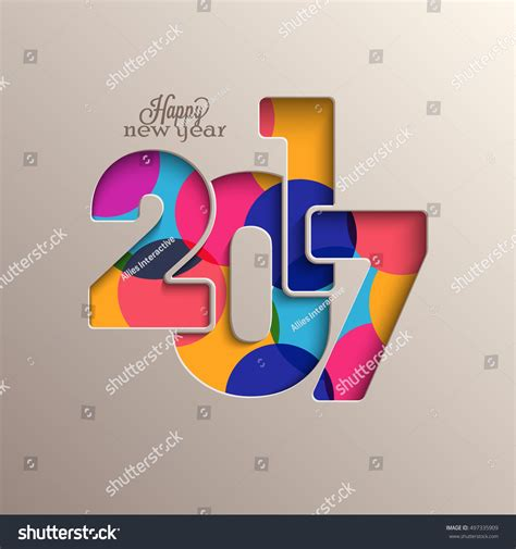 creative happy new year texts creative colorful text 2017 happy new stock vector 497335909