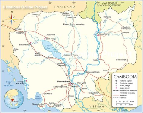 map of cambodia camboya map