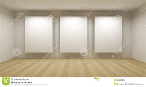 3d room empty gallery 3d room royalty free stock photos image 24284068
