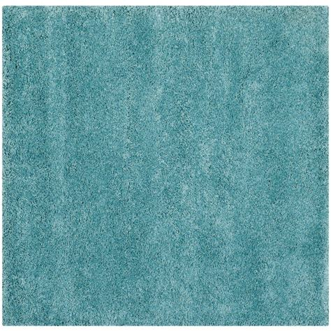 7 X 7 Square Area Rugs by Safavieh Milan Shag Aqua Blue 7 Ft X 7 Ft Square Area
