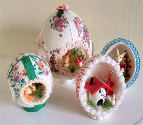 vintage easter eggs handmade dioramas with by babylonsisters