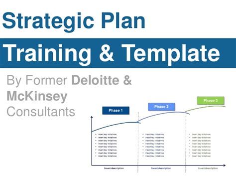 Deloitte Strategy Mba by Strategic Plan Template By Former Deloitte