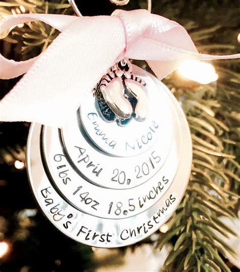 sale hand sted personalized baby s first christmas