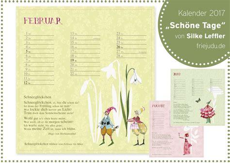 Kalender 2017 Tage Kalender Sch 246 Ne Tage 2017 Friejudu Kinderkleidung Und