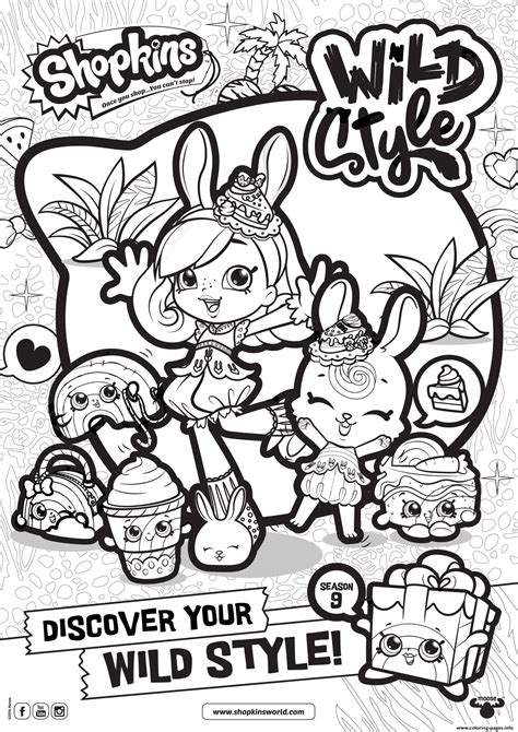 print shopkins season  wild style  coloring pages