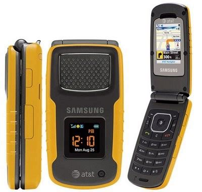 Rugged Cell Phones At T by Samsung Rugby A837 Yellow Waterproof Rugged Flip Phone For