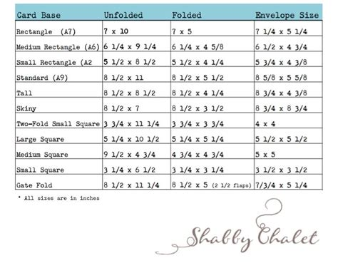 how to make an envelope for any size card 17 best ideas about envelope size chart on