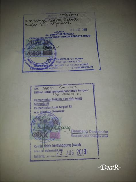 prosedur legalisir dokumen di departemen luar negeri deplu dear