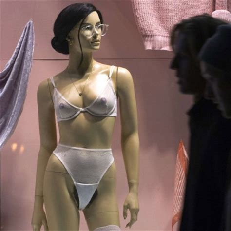 see hair thru panties american apparel s mannequins sport the latest accessory