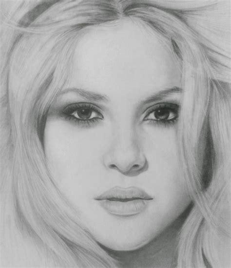 imagenes para dibujar rostros de personas como dibujar el rostro de shakira buscar con google