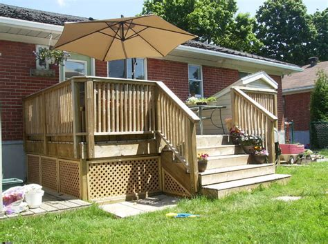 building a wooden deck a concrete one