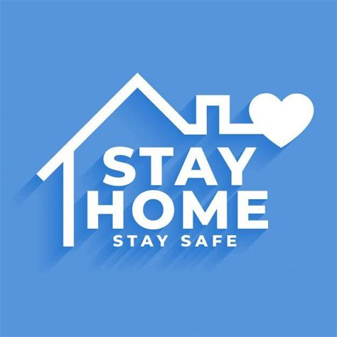 stay home  stay safe concept poster design