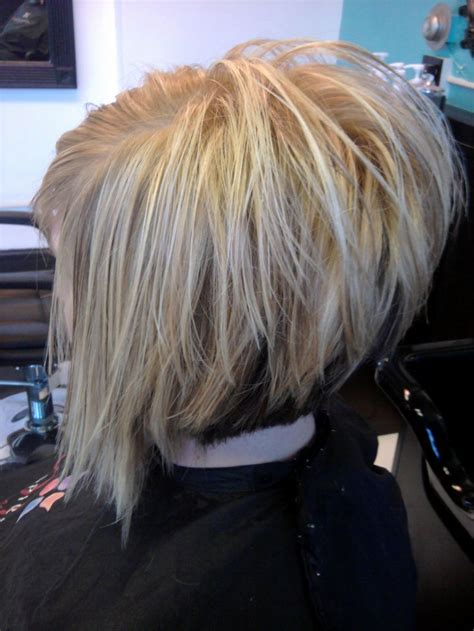 would a diagonal bob look good on a heart shaped face stacked diagonal forward cut with a feather razor hair by