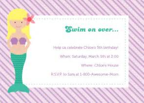 free mermaid invitation templates cloudinvitation com