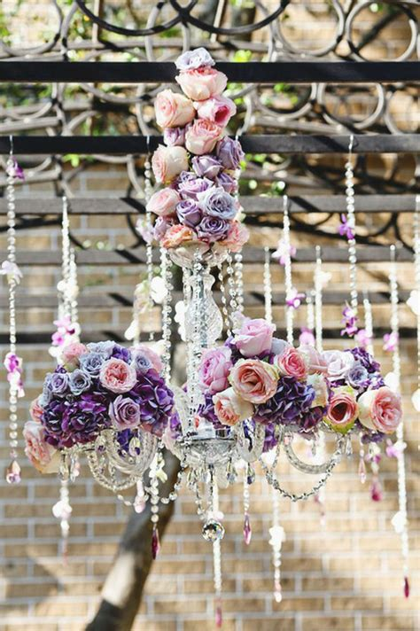 chandelier with flowers hanging flowers the magazine