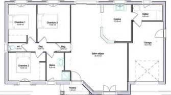 plan pavillon 100m2 plan de maison 100m2 2 plan maison plain pied avec