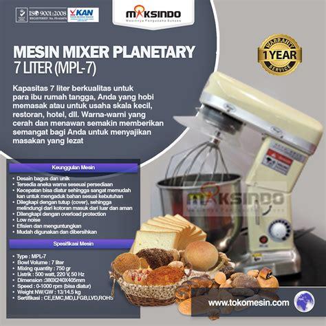 Blender Di Bali jual mesin mixer planetary 7 liter mpl 7 di bali toko