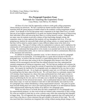 Expository Essay Introduction Exle by 5 Paragraph Essay Exle On Quotes Quotesgram