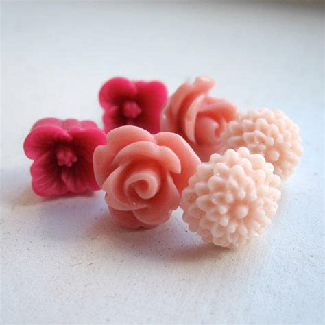 Dress Flower Blossom Set 1 flower blossom earrings set from paganuccidesigns on etsy
