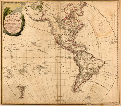 New World a map of america or the new world wherein are introduced