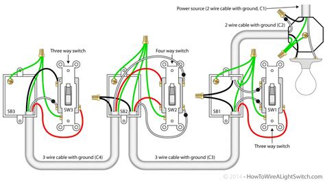 4 way switch wiring diagrams dejual