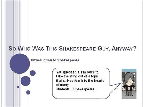 shakespeare introduction authorstream