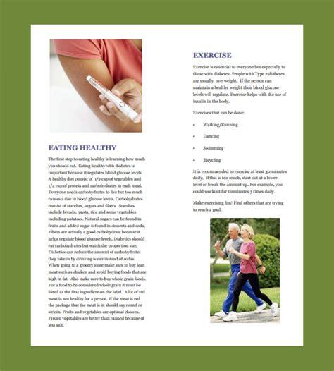 14 Diabetes Brochure Templates Sle Templates Diabetes Brochure Templates Free