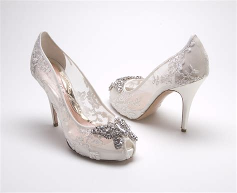 Designer Bridal Shoes by Aruna Seth New Lace Bridal Shoes