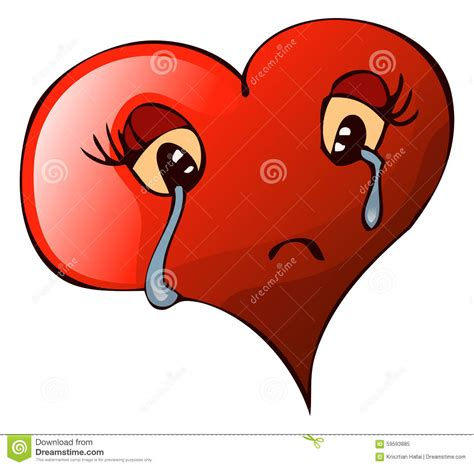 imagenes corazon llorando cartoon sad crying heart vector illustration stock