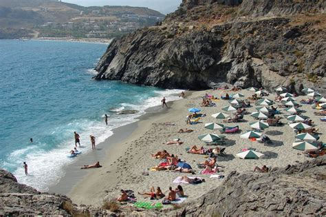 micro beach micro amoudi beach photo from amoudi in rethymno greece com
