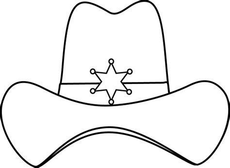western hat coloring page sheriff printable black and white sheriff cowboy hat