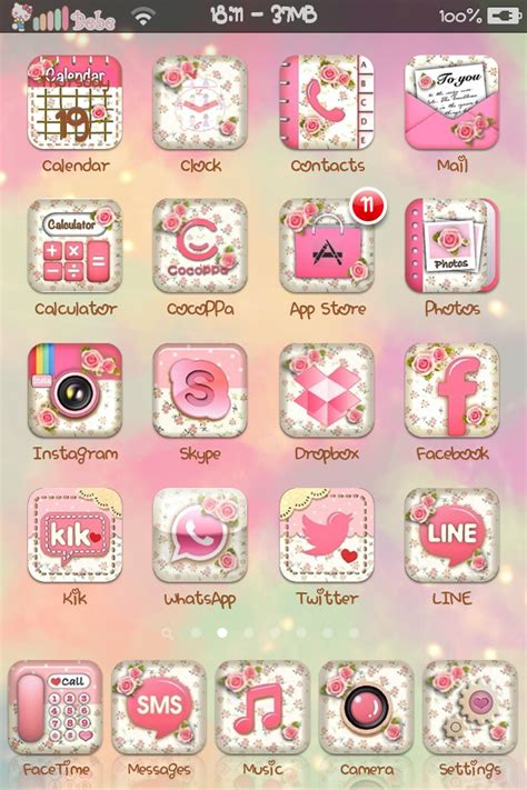 cute themes on winterboard floral icons set cute bebe kitty