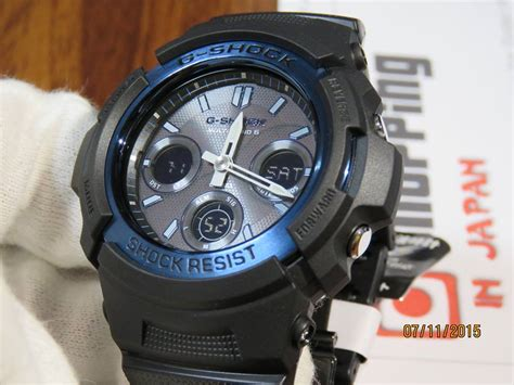 Casio G Shock Gls 100 Black Blue live photos g shock awg m100bc 2ajf black and blue