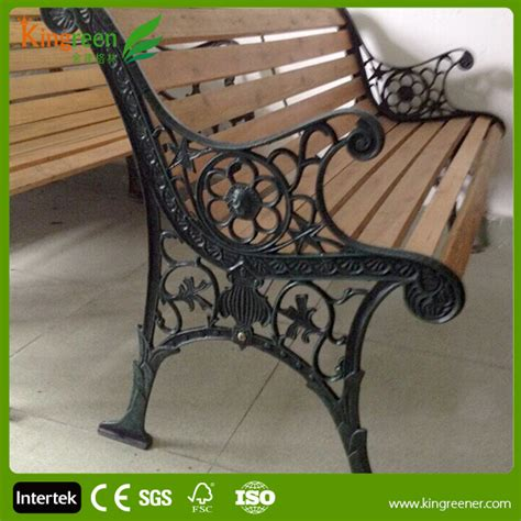 cast iron park bench replacement slats hot sell wood slats for cast iron bench outdoor furniture